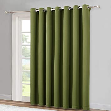 Amazoncom Nicetown Window Treatment Sliding Door Curtain Thermal
