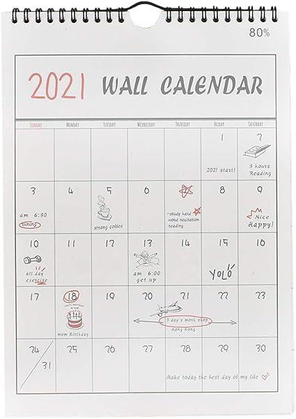 Toyvian 2020 - Calendario de pared para colgar - Calendario de pared mensual - Planificador anual de 12 meses: Amazon.es: Oficina y papelería