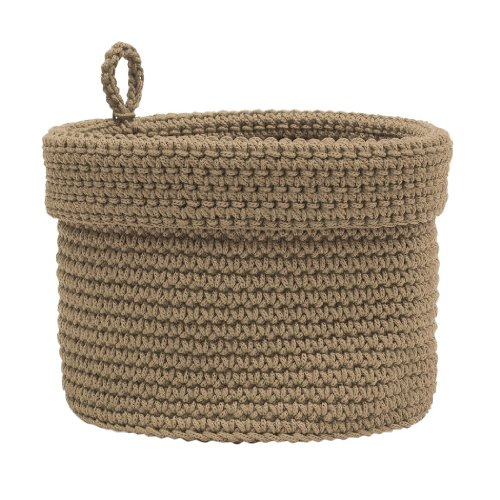 rochet Round Basket with Loop, 6 by 6-Inch, Tan ()