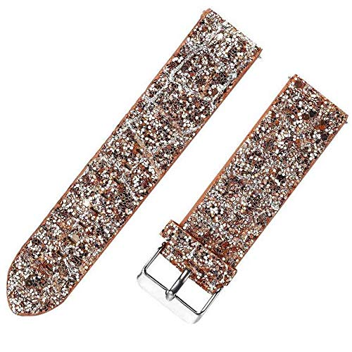 Jewh Glitter Christmas Leather Band for Samsung Gear S3 - Frontier Strap - Shiny Bling Watch