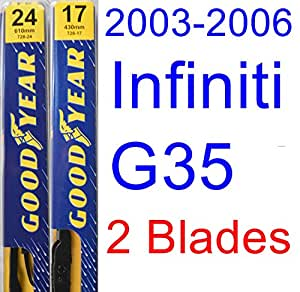 Goodyear Windshield Wipers >> Amazon.com: 2003-2006 Infiniti G35 Coupe Replacement Wiper ...