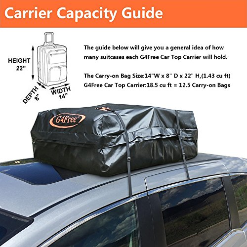 15 7 Cubic Ft Car Top Carrier Waterproof Soft Roof Top