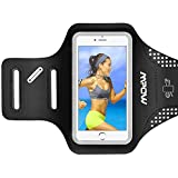 Mpow Sport Armband with Earphone and Key Holder for iPhone 8/7/6s/6, Samsung S7/S6, Huawei P9 up to 5.2 inches, Adjustable Arm Width, Sweatproof Runnig Phone Holder, Reflective Frame Design, Soft and Light, Perfect for Running, Jogging and Other Sports