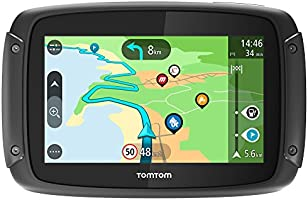 TomTom RIDER 500 - GPS Moto - Cartographie Europe 48, Trafic, Zones de Danger à Vie, Routes Sinueuses et Vallonnées...