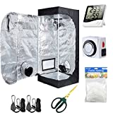 Hydro Plus Grow Tent Room Kit 20''x20''x48'' Indoor Plants Growing Reflective Mylar Dark Room Non Toxic Hut + Hydroponics Growing System Accessories (20''x20''x48'' Kit)