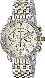 MICHELE Women's 'Sidney' Swiss Quartz Stainless Steel Casual Watch, Color:Two Tone (Model: MWW30A000005)