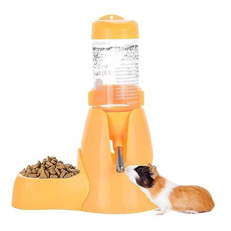 ShareWe Botella de Agua para Animales Dispensador Waterer Automático con Recipiente Tapa para Mascotas Gato Hamsters