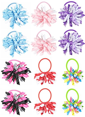 hipgirl-boutique-girls-hair-bow-ties-ponytail-holders-no-crease-ouchless-stretchy-elastic-styling-to