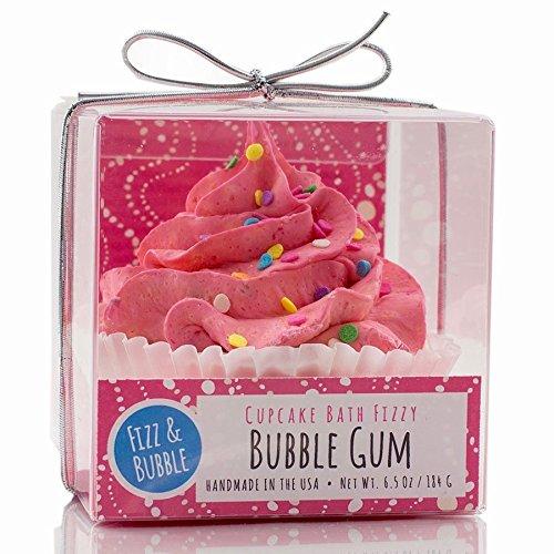 Fizz & Bubble Natural Bubble Gum Cupcake Bath Fizzy (Edible Bath Bubbles)