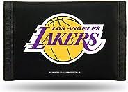 Rico Industries NBA L.A. Lakers Nylon Trifold Wallet, Black