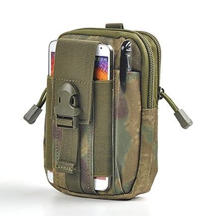 Tactical Molle Waist Pouch, Utility Military Gadget Organizer Pouch Belt Bag Multi-Purpose Outdoor Waterproof Men Sport Waist Bag Casual Waist Pouch(orange) Behavetw