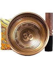Juego de cuencos tibetanos para cantar – fácil de tocar – Instrumentos de música de sonido Zen Mindfulness de 10 cm para meditación sanación holística por Himalayan Bazaar