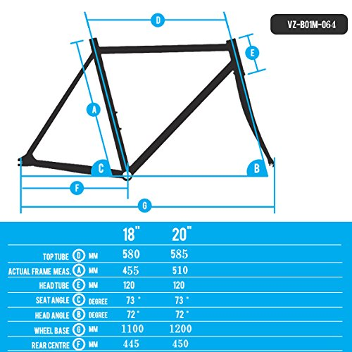 "Venzo RAPTOR Mountain Bike Hard Tail Frame 29"""