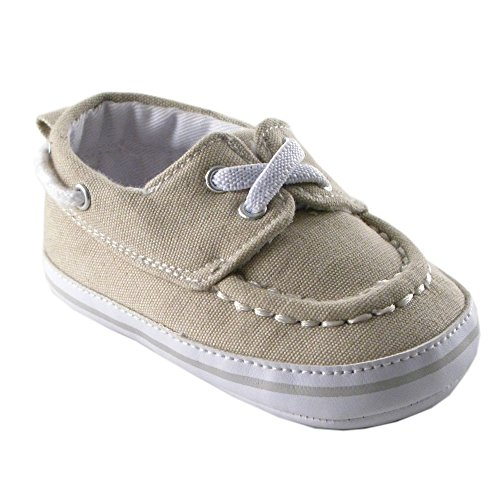 Luvable Friends Boy s Slip on Shoe Infant Beige 12 18