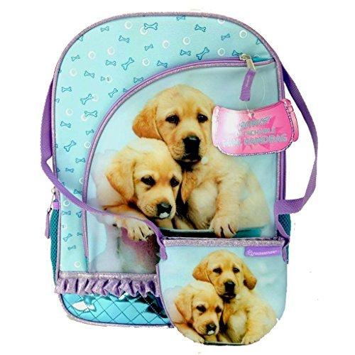 Rachael Hale Dog - Rachael Hale Twins Puppy Dog School Sized Backpack With Bonus Detachable Handbag