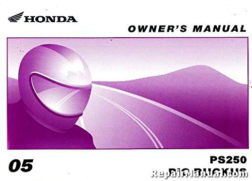 31KTB600 2005 Honda PS250 Big Ruckus Scooter Owners Manual by by Publisher