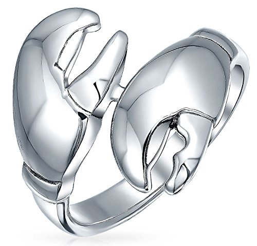 Nautical Crab Claws Ring Aquatic Animal Statement 925