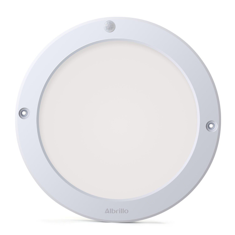 Albrillo Indoor Motion Sensor Light LED Ceiling Lights Flush Mount, for Kitchen Hallway Bathroom, 100 Watt Equivalent, 1200lm, Warm White