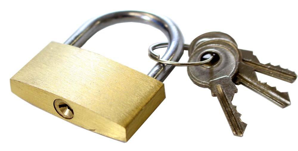 f12a85c17d89 ToolUSA (40mm) Brass Mini Padlocks With 3 Keys: LOCK-07304-Z02 : ( Pack of  2 Padlocks )