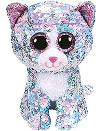 fca38445897 Ty Flippables TY36674 Sequins Whimsy the Cat Soft Toy