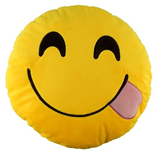 138-emoji-glutton-emoticon-round-cushion-pillow-stuffed-plush-soft-toy-gift