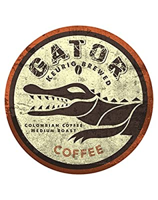 Gator Coffee Single Origin Coffee for Keurig Single-Serve K-Cup Pods, Medium Roast,Artisan Roasted Pack of 18 cups