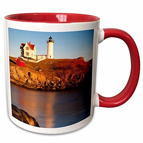 3dRose mug_144539_5 Nubble Lighthouse At Cape Neddick, Maine, USA-Us20 Bjn0029-Brian Jannsen Ceramic, 11 oz, (Cape Neddick Lighthouse)