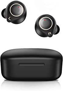 Langsdom Wireless Earbuds, Bluetooth 5.0 Headphones, Touch Control & Volume Control Stereo Bass, IPX6 Waterproof 32H Playtime Bluetooth Earphones for iPhone Android(Black)