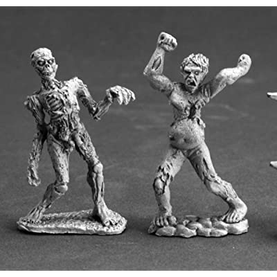 Reaper Zombies (2) Miniature: Toys & Games