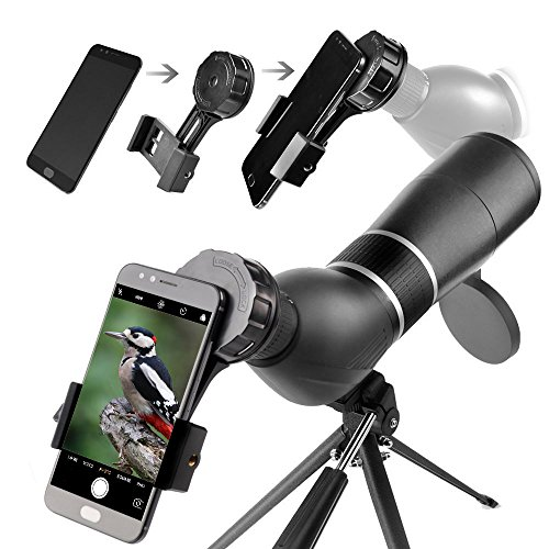 Spotting Scope,15-45X60 Waterproof Monocular Telescope Bird Watching Outdoor Viewing with Tripod and Digiscoping Adapter