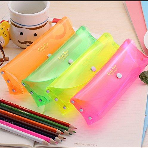 Funnylive®Sweet Candy Color Transparent Pen Bag Mini Pencil