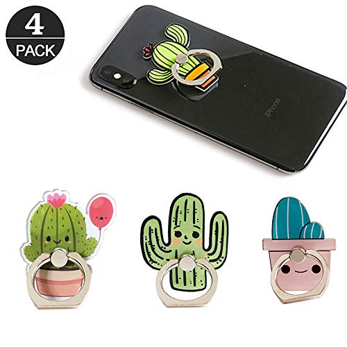 - Cactus Phone Ring Holder Stand,Cactus Phone Ring Stand Holder 360 Rotation Finger Ring Grip Stand for Cellphones,Smartphones and Tablets
