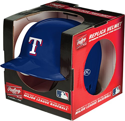 (MLB Texas Rangers Mini Replica Helmet, Blue)