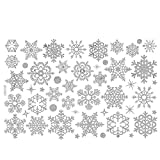 NEARTIME Christmas Window Sticker, Christmas Restaurant Mall Decoration Snow Glass Window Decals Removable Stickers Decor (Free Size, White)