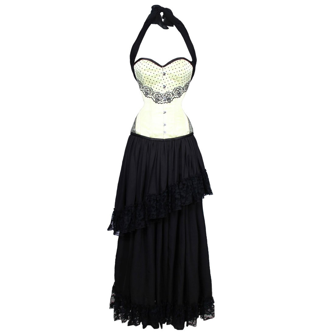 351b54d9c40 Babette Couture Authentic Steel Boned Overbust Corset Dress  Amazon.ca   Clothing   Accessories