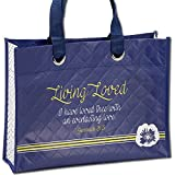 Living Loved Jeremiah 31:3 Tulips Laminated Reusable 15 x 11 Inch Tote Bag