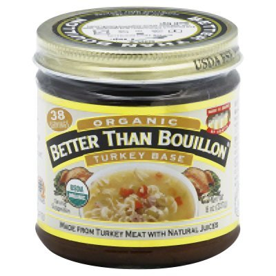 Better Than Bouillon Turkey Base 95% Organic, 8-ounce Jars (Pack of 6)