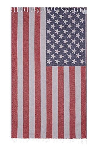 Vintage Looking Lightweight American Flag Bath Beach Travel