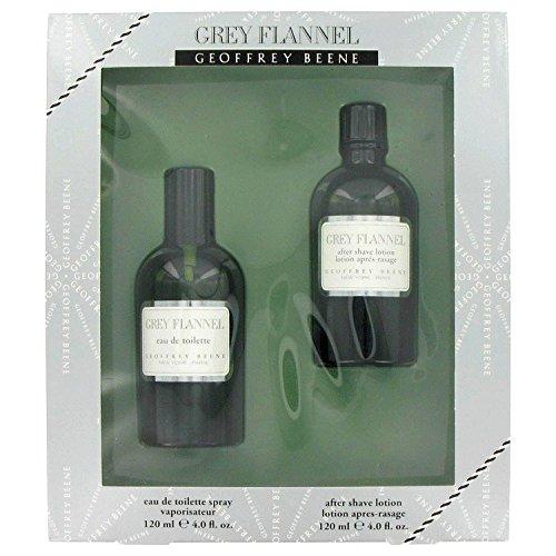 GREY FLANNEL by Geoffrey Beene Men's Gift Set -- 4 oz Eau De Toilette Spray + 4 oz After Shave - 100% Authentic - Grey Flannel Rose Eau De Toilette