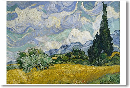 Vincent van Gogh - Wheat Field with Cyprusses 1889 - NEW Fine Arts Poster