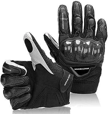 4f9fac5a Guantes Moto Tranpirable Entretiempo Guantes con Protección Guantes Moto  Verano Anti-Deslizante Pantalla Táctil Proteccion Gloves Racing Moto