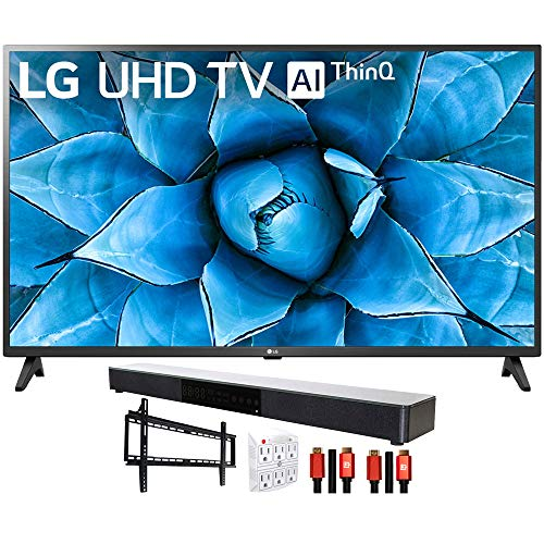 "LG 43UN7300PUF 43"" 4K UHD TV with AI ThinQ (2020) with Deco Gear Soundbar Bundle"