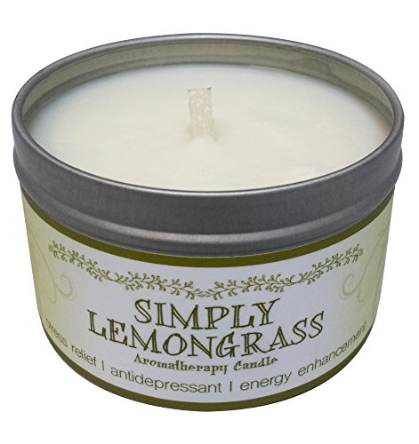 Lemongrass Candle (Our Own Candle Company Soy Wax Aromatherapy Scented Candle, Simply Lemongrass, 6.5 Ounce)