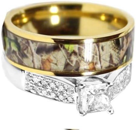 Amazon Com Kingswayjewelry 2pc Sterling Silver Titanium Camo Set