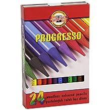 KOH-I-NOOR Progresso Woodless Coloured Pencil Set (Set of 24)
