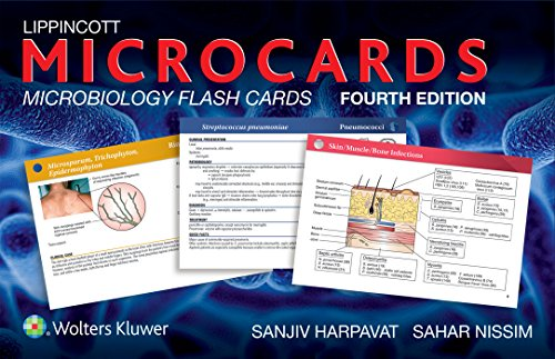 Lippincott Microcards: Microbiology Flash Cards (Best Pharmacology Flash Cards Step 1)