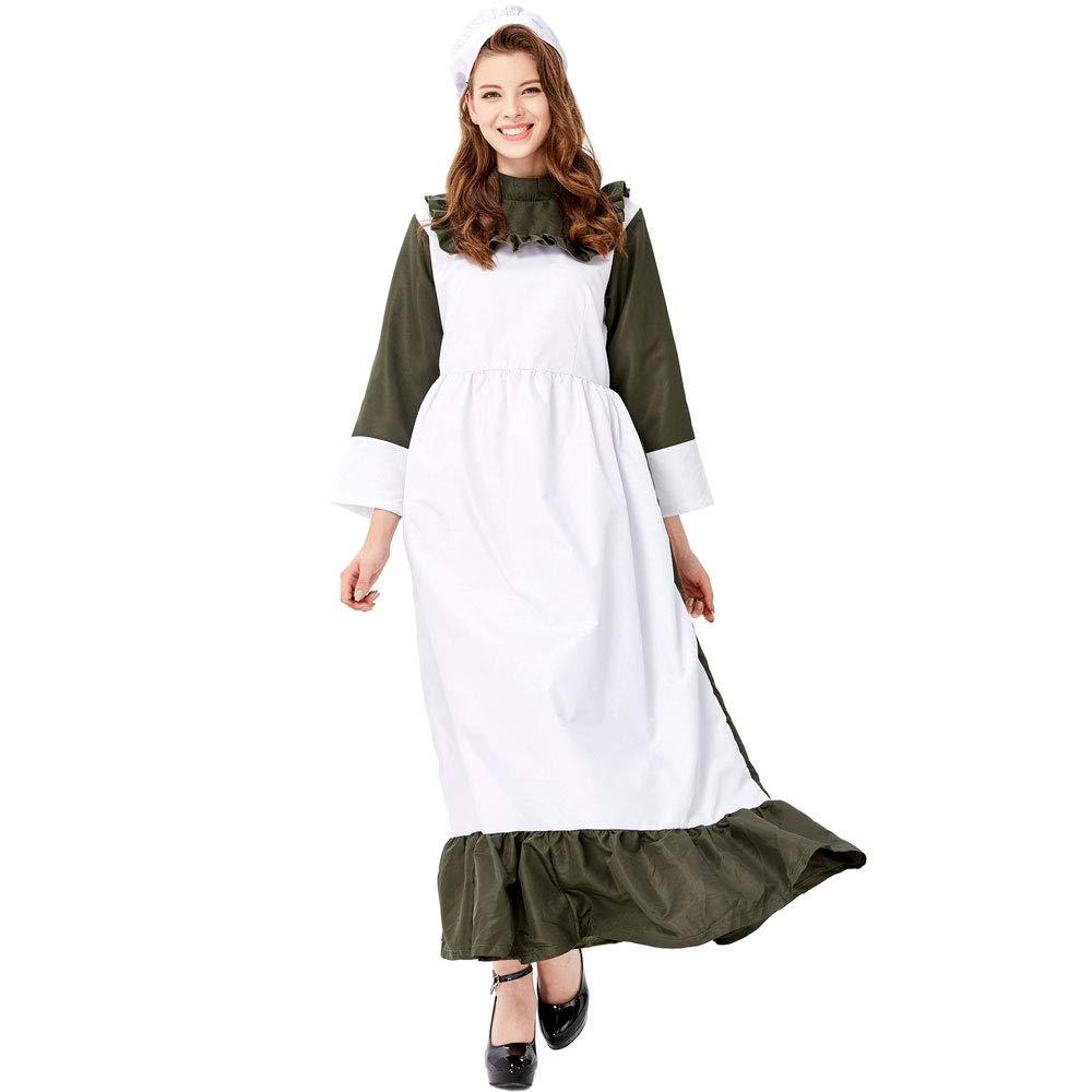 X-gree BXW Le Donne Adulte Vestono Il Vestito da Htuttioween moda Maid Costume, Htuttioween Cosplay Party,XL