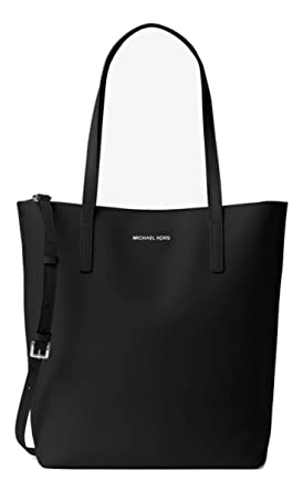 6f756adb8dec3d NEW AUTHENTIC MICHAEL KORS LARGE EMRY LEATHER TOTE BUSINESS BAG (Black)