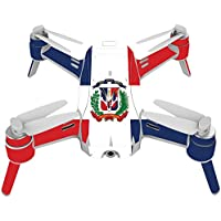 Skin For Yuneec Breeze 4K Drone – Dominican Flag | MightySkins Protective, Durable, and Unique Vinyl Decal wrap cover | Easy To Apply, Remove, and Change Styles | Made in the USA