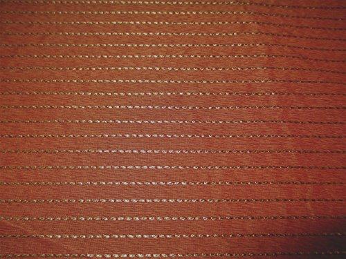 - Fabric Robert Allen Beacon Hill Silk Jasper Terracotta Silk Stripe Drapery JJ41